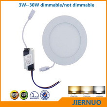 Free shipping 3W~30W Round/Square Led Panel Light Ultra thin design Downlight lighting Led ceiling down lightAC 85-265V + Driver