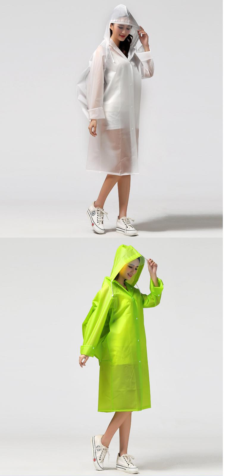 Women Transparent Portable Long Raincoats 22