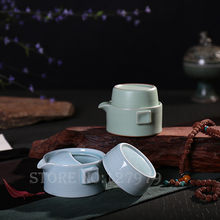 On sale! Hand pot, Quik cup, 1 pot of 1 cup, office / travel tea set, tea cups, Ceramic teapot, puer, oolong, green tea set~(China)