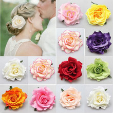 2016 Hair Jewelry Brooch hairpin Bridal Rose Flowers Hairpins Broochs Wedding Bridesmaid Party Accessories Hair Clips