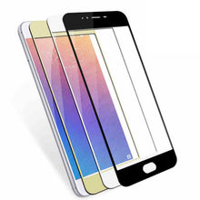 Full Cover Tempered Glass for MEIZU Pro 6 9H 2.5D 0.33mm Silk Print Self Adhesive Protective Glass Screen Protector(China)