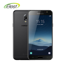 Original Samsung Galaxy C8 (SM-C7100) Super AMOLED FHD 3G RAM 32G ROM 16MP Front Camera dual sim Octa Core Lte 4G Mobile Phone(China)