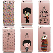 Avada Kedavra Bitch shirt for Harry Potter Design Soft Silicone TPU For iPhone SE 5S 6 6S 6Plus 7 7Plus harry potter books Cases