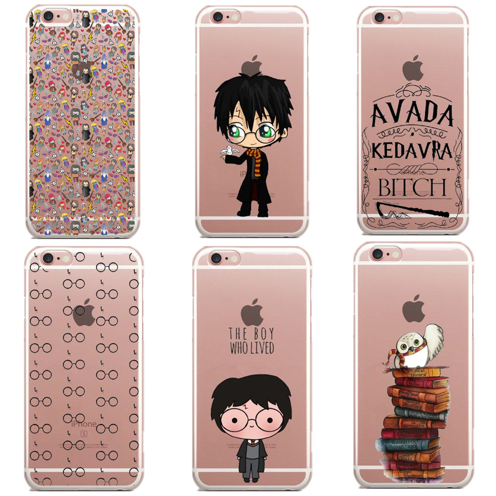 Avada Kedavra Bitch shirt for Harry Potter Design Soft Silicone TPU For iPhone SE 5S 6 6S 6Plus 7 7Plus harry potter books Cases(China)