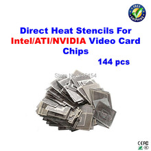 144 pcs/lot graphics card direct heat stencils for INTEL/ NVIDIA/ ATI Video card chips(China)