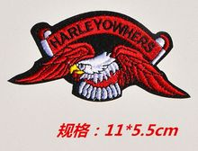 4pc/lot Harley 3d embroidery patch iron on applique patches strass iron transfer motifs iron on transfer designs