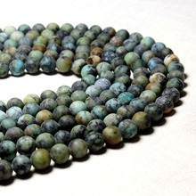 Wholesale  Natural Dull Polish  African Turquoises Stone Beads For Jewelry Making DIY Bracelet Necklace 6/ 8/10 mm Strand 15''