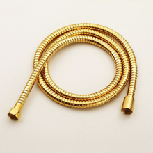 Bathroom Replacement Anti-twist Shower Hose 1.5m Flexible Brass Material Chrome Shower Head Bathroom Water Hose  HJ-0515