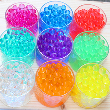 Set 12 Packs 6000 Particles/lot 12 Colors obriz Balls Growing In Water Sea Baby Crystal Soil Water Beads Gel For Wedding Decor(China)