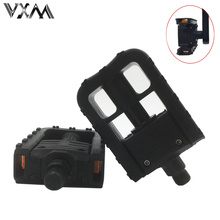 VXM Bicycle Folding Pedals 1 Pair  Universal Plastic Non-slip Black Folded Pedals For  Mountain/Road Bike Cycling Parts
