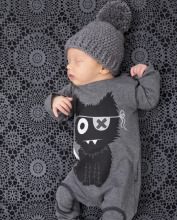 2017 new fashion baby boy and girl clothes long sleeve cartoon pattern one piece baby rompers newborn infant clothing(China)