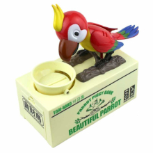 Free Shipping 1Piece Lovely Parrot Coin Bank Stealing Money My Parrot Piggy Bank Saving Money Box Robotic Bird Money Pot Gifts(China)
