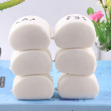 Baby Kids Children Food Pretend Play Squishy Expression Steamed Bread Soft Buns Kitchen Toys(China)