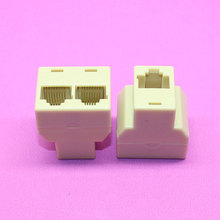 1piece High quality New Network Interface splitter one point two RJ45 tap