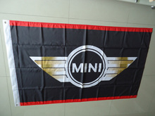 free shipping car exhibition mini car show flag for service,mini car banner, 90X150CM size,100% polyster(China)