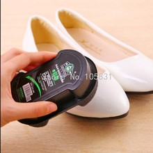 4pcs Top grade natural wax multifunctional sponge leather shoes brush double faced wipe