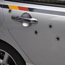 1PCS 14cm*10cm bullet hole Car Stickers super cool Simulation of bullet holes Car styling car decoration+