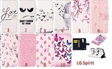 Hot For LG Spirit H422 Case Crystal 3D Leather Flip Case Cell Phone Protective Cover for LG H422 Shell Stand with Credit Card(China)