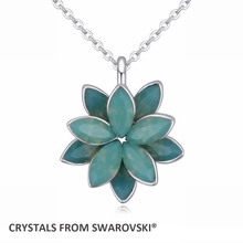 2016 Hot Classic Lotus Shape crystal pendant necklace for woman With Crystals from SWAROVSKI good for mother's Day gift