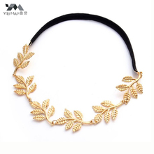 YouMap Fashion Tiara Noiva Metal Gold Chain Flower Leaf Hairband For Wedding Bridal Hair Accessory Women Forehead Jewelry Y2R2C(China)
