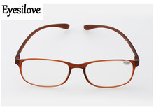 Eyesilove retail 1pcs TR90 reading glasses for men women presbyopia glasses lenses power +1.0 to +4.00 accept mixed order(China)