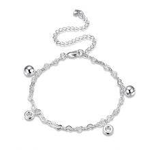 2017 New Products High Quality Jewelry 925 Silver Jewelry, Women's Fashion Anklet Circle Bell Anklet A086