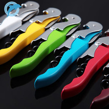 Multi-Function Wine Bottle Cap Opener Corkscrew Cork Screw Stainless Steel Metal With Handle Home Party