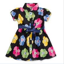 2017 Wedding Sundress Summer Dress For Girls Kids Clothes Baby Girl Flower Party Dresses(China)