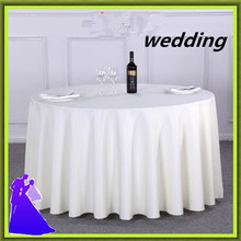 5pcs color  Round Polyester Wedding Table Cloths Polyester Table Linens Covers For Banquet Event Hotel Table Decoration