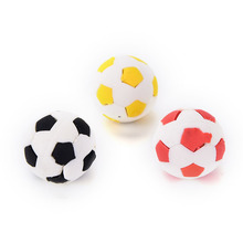 Funny 3d The World Cup Football Erasers Cute Cartoo Football Shape Rubber Eraser School Student Children's Prizes Gift Toy 1PC(China)