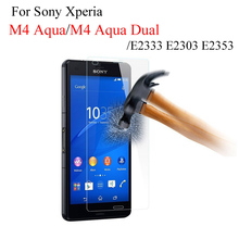 For Sony Xperia M4 Aqua Dual Tempered Glass For Sony M4 E2303 E2333 E2353 E2306 e 2333 e 2353 Screen Protector Film Cristal case