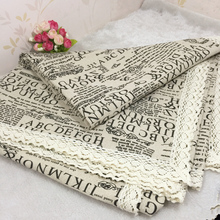 Cotton linen lace tablecloth  pastoral Europe style  Linen Tablecloth table cloth dining table cover desk towels Dust cloth