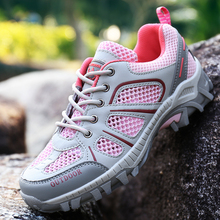 Men Hiking Shoes Women Breathable Mesh Summer Trekking Shoes Breathable Climbing Sport Sneakers Mountain Boots