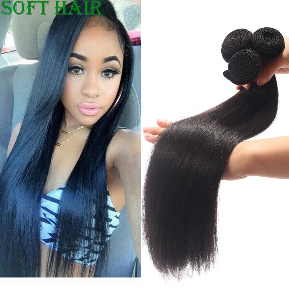 Soft Hair Products Brazilian Virgin Hair Straight 3 Bundles Lot Grade 7A Brazilian Human Hair Weave Bundles Ms lula hair<br><br>Aliexpress