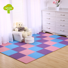 eight-day foam mats carpet crawling mat children's rugs home carpet flooring tile mats velvet floor protection mat 30x30cm 9 pcs(China)