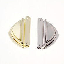 Free Shipping-5 Sets Gold Tone/ silver tone Handbag Bag Accessories Purse Twist Turn Lock 34x52mm J3390(China)