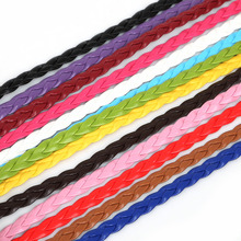 7mm 5 meters Flat Braided PU Leather Cords Rope String Faux Leather Cords For Jewelry Making Necklace Bracelet Craft DIY