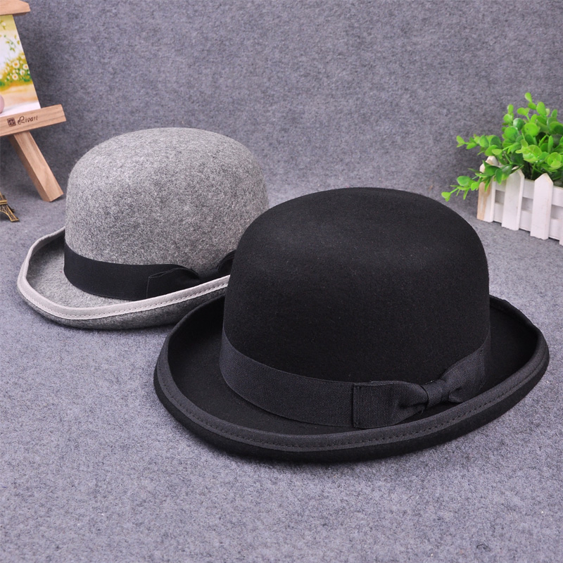 100% Wool Men's Bailey Ofhollywood Fedora Hat For Gentleman Crushable Hantom lr Amir Khan Bowler Hat Luxury Billycock Hats