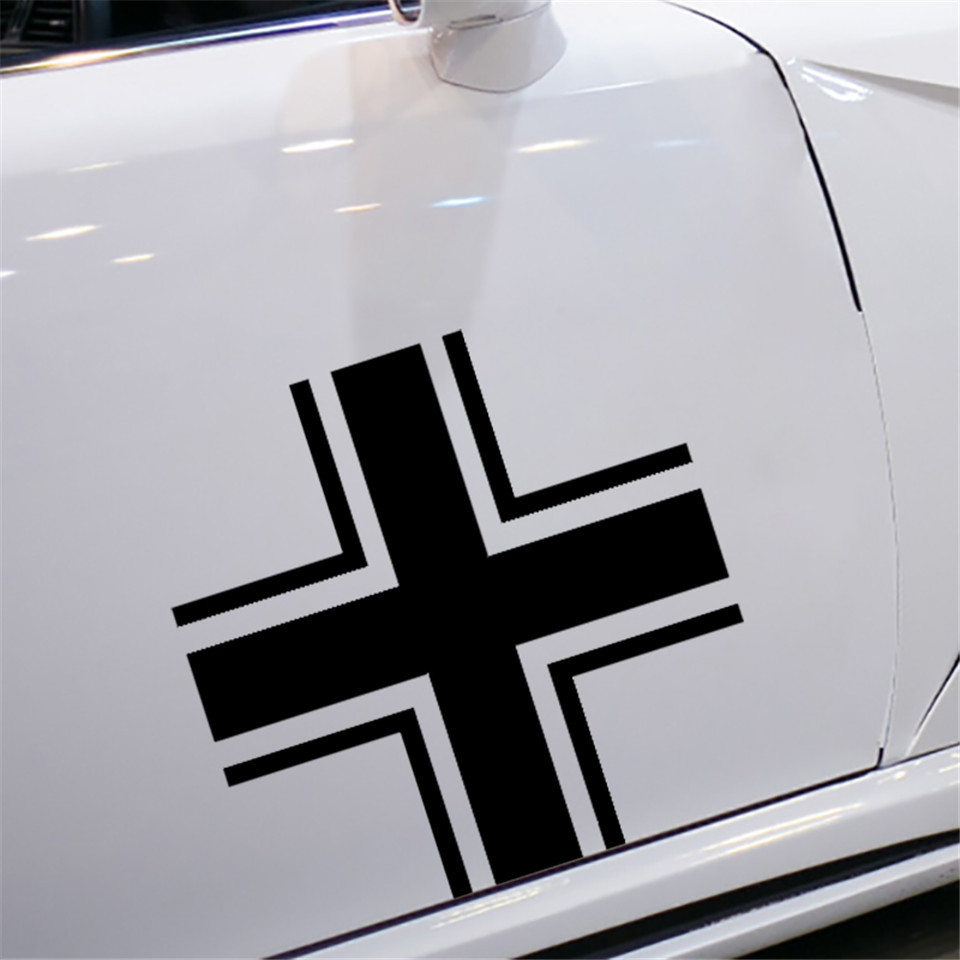 Iron Cross Car Sticker Black Vinyl Decal choose size 2/'/' 3/'/' 6/'/' 8/'/' 22/'/'