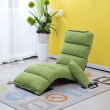 Japanese Living Room Furniture 5 Colors Floor Seating Adjustable Foldable Upholstered Gaming Chaise Futon Sofa Lounge Chair(China)