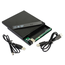 Laptop USB to Sata CD DVD RW Drive External Case Caddy(China)