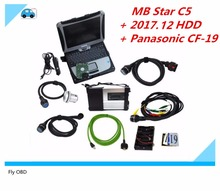 2017 Newest MB Star C5 SD Conenct c5 with laptop cf19 Toughbook diagnostic PC with mb star c5 V2017.12 320GB hdd for sd c5(China)