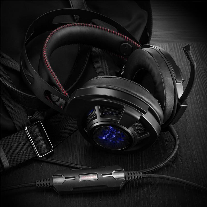 ONIKUMA M190 Double Headband Deep Bass Headphones Over Ear Headsets Gaming Headphones with Microphone Stable Earphones with Box