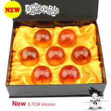 Dragon Ball Crystal Balls 1set 3.5/4.5/5.7/7.5CM DragonBall 7 Balls Set of 7 pcs Crystal Balls 5.7cm Set New In Box