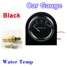 "DRAGON GAUGE Car Gauge 2"" 52mm Water Temp Gauge 40~120 Centigrade Temperature Vehicle Meter Black Shell 12V Automobile(China)"