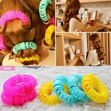 New Hair Styling Roller Hairdress Magic Bendy Curler Spiral Curls DIY Tool 8 Pcs M01463