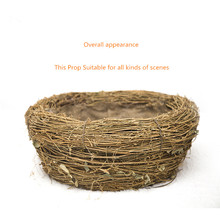 Newborn  Photography props baby basket  Manual compilation  Originality  The bird's nest  Round basket #258