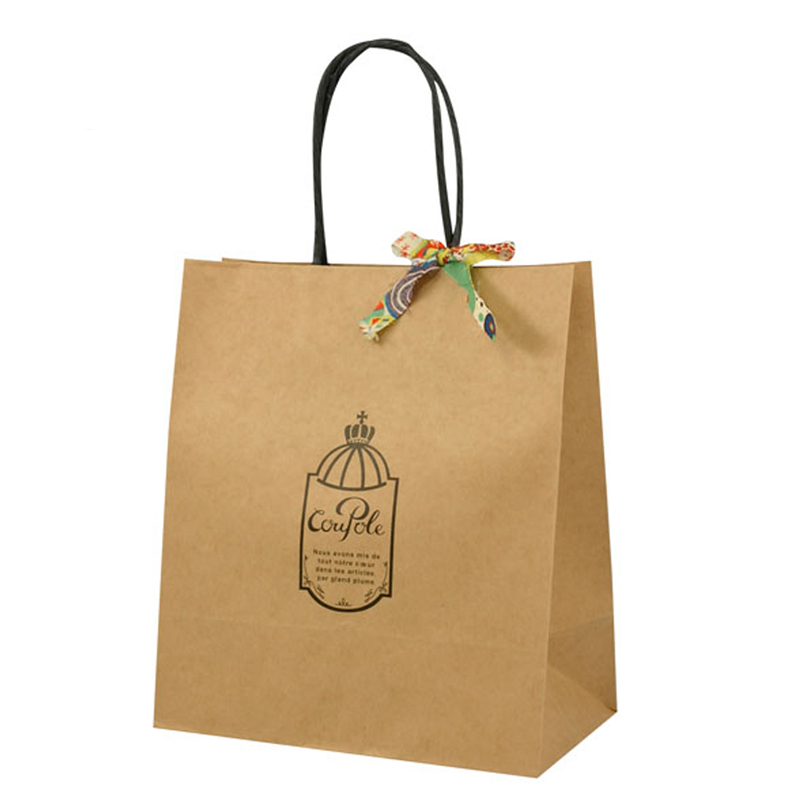 ribbon kraft packaging bag