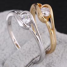 New Arrival fashion wedding  tail ring  wholesale pinky ring KUNIU J27025