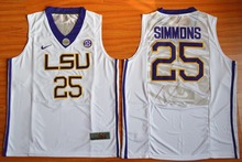NIKE LSU Tigers Ben Simmons 25 College Jersey Ice Hockey Jerseys - Gold Size S,M,L,XL,2XL,3XL(China)